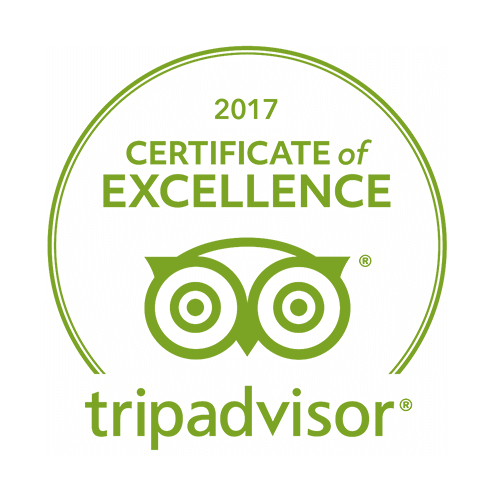 Tripadvisor 2017 certificate of excellence